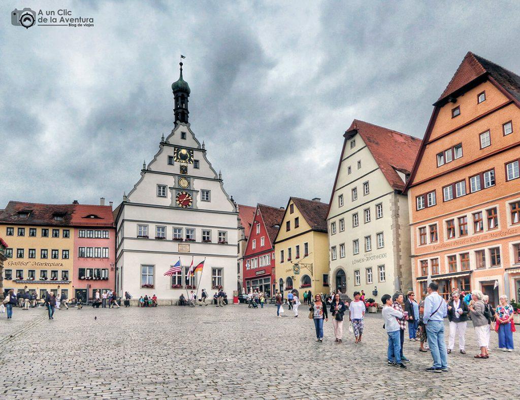 Taberna de los Concejales en la Plaza del Mercado - qué ver en Rothenburg ob der Tauber