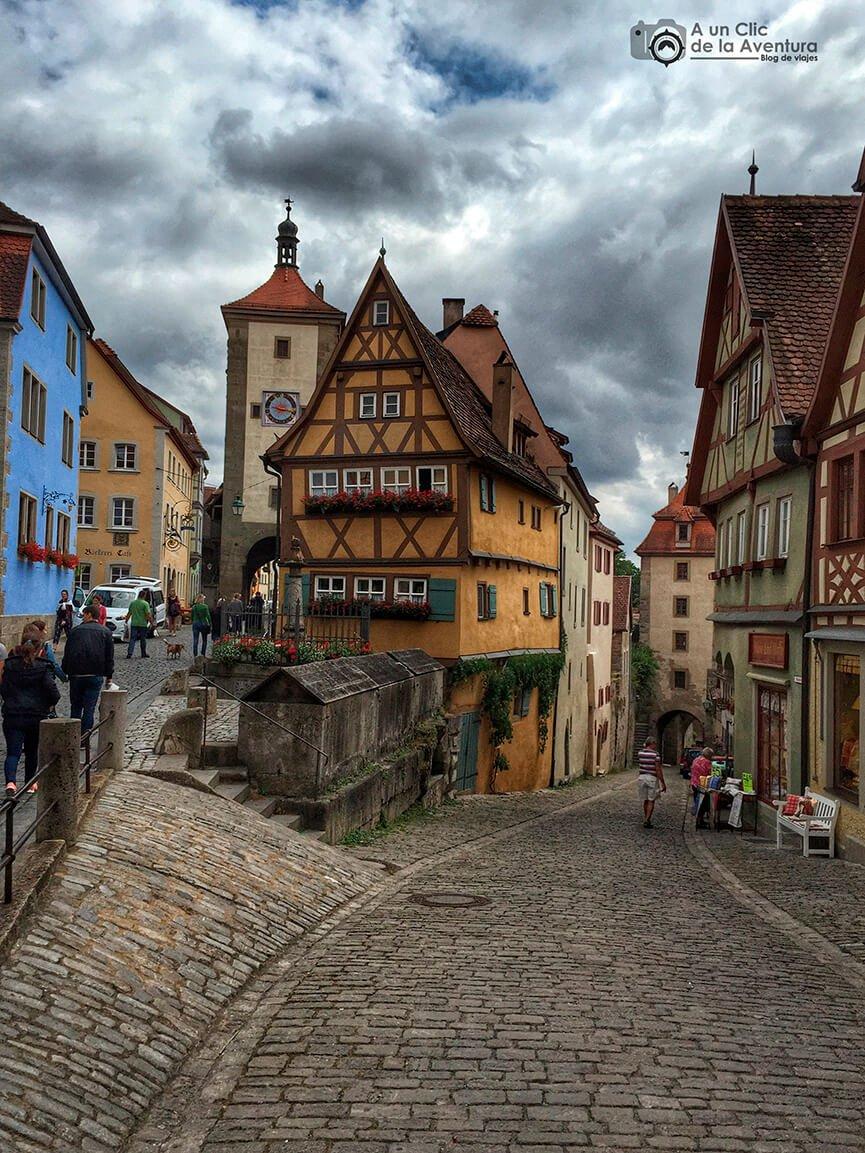 El Plönlein - cómo visitar Rothenburg ob der Tauber
