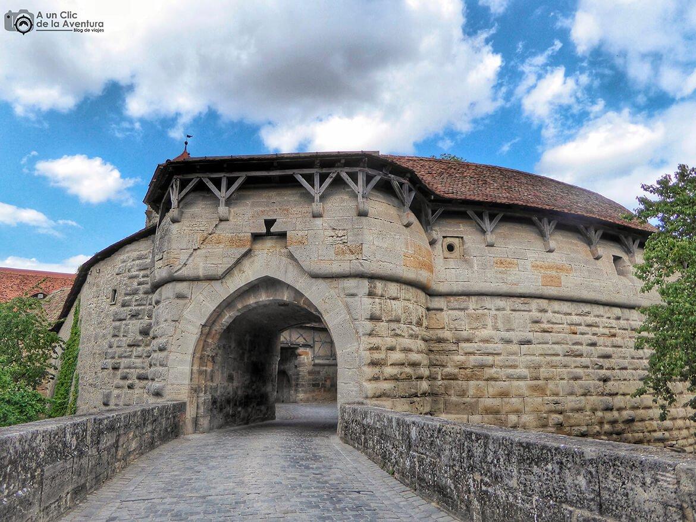 Puerta del Hospital - cómo visitar Rothenburg ob der Tauber