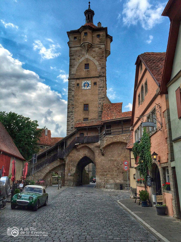 Puerta y torre de Klingen - cómo visitar Rothenburg ob der Tauber
