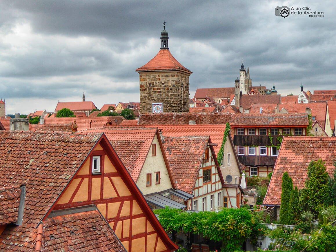 Rothenburg ob der Tauber desde las murallas - cómo visitar Rothenburg ob der Tauber