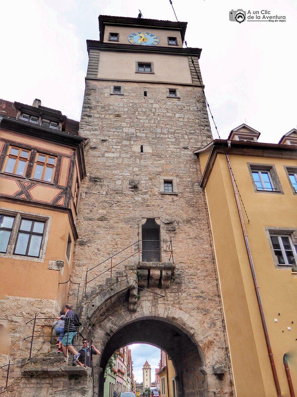 Torre Blanca de Rothenburg ob der Tauber - cómo visitar Rothenburg ob der Tauber