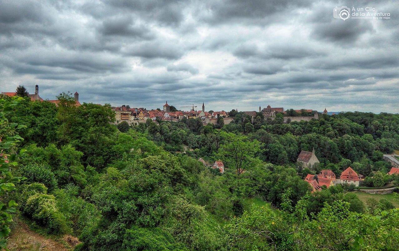 Vistas de Rothenburg y del Valle del Tauber - cómo visitar Rothenburg ob der Tauber