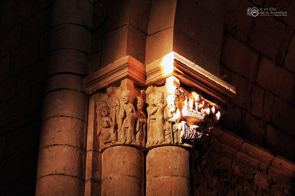 Capitel de la Anunciación del Monasterio de San Juan de Ortega - alrededores de Burgos