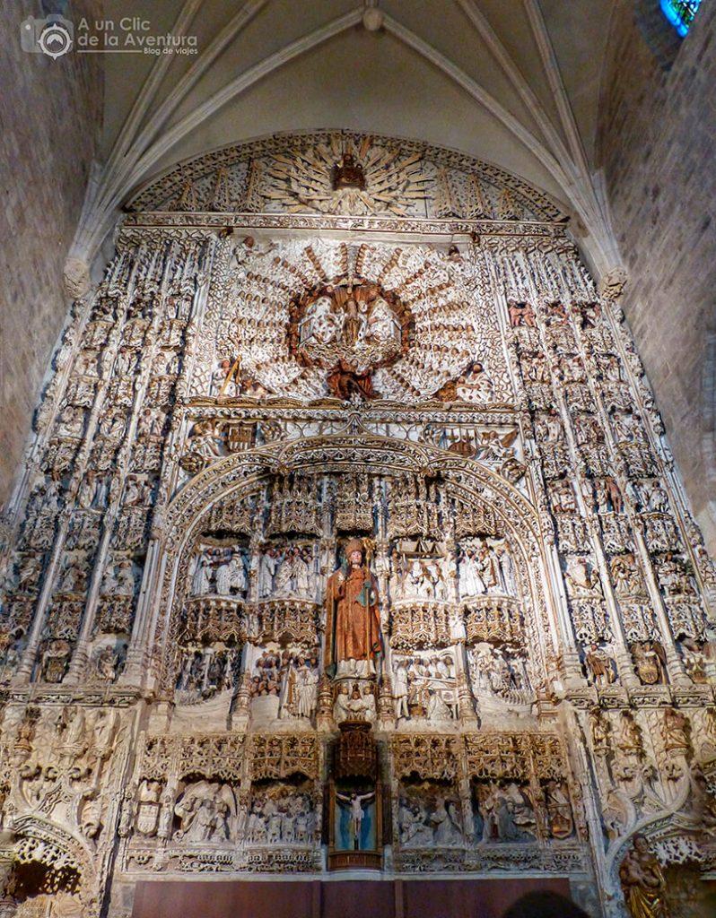 Retablo de la iglesia de San Nicolás - rincones secretos de Burgos