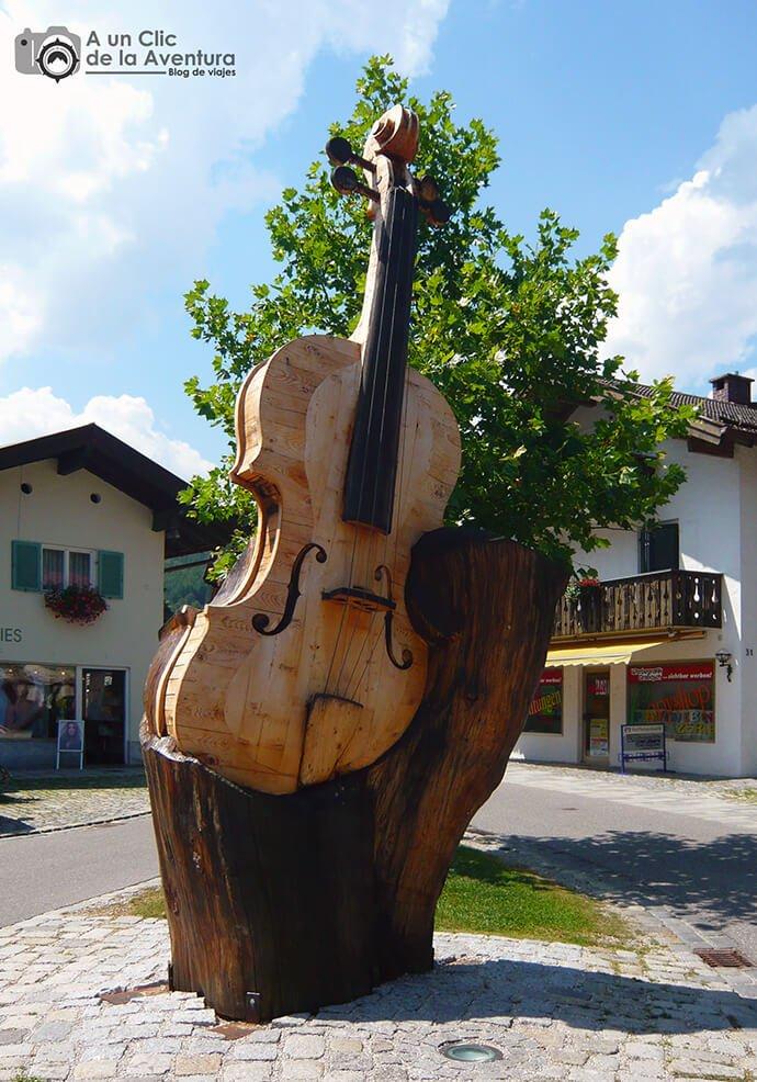 Talla de violin en Mittenwald