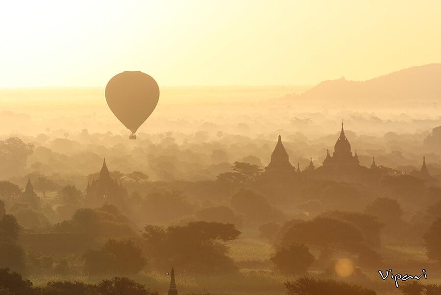 Atardecer en Bagan - paisajes más impresionantes del mundo