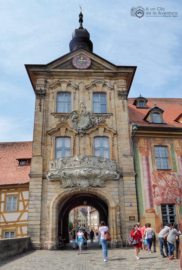 Fachada del Antiguo Ayuntamiento de Bamberg