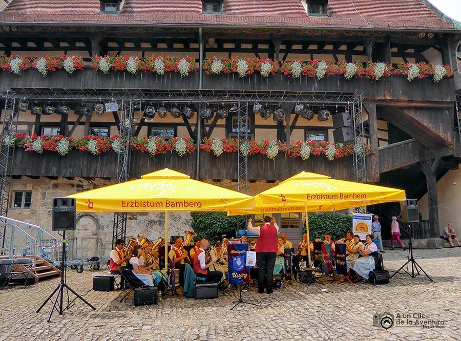 Patio interior de la residencia antigua de Bamberg
