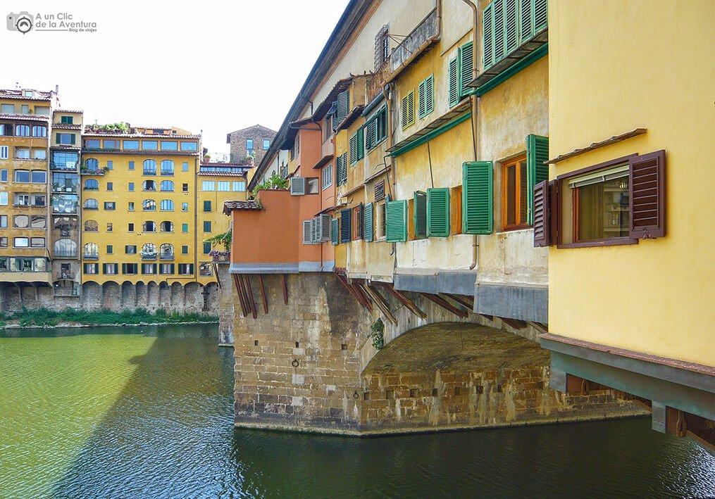 Casas colgadas del Ponte Vecchio - visitar Florencia