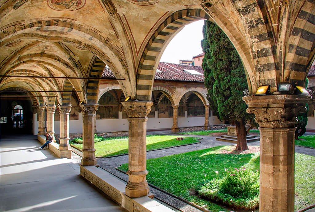 Claustro verde de la iglesia de Santa María Novella