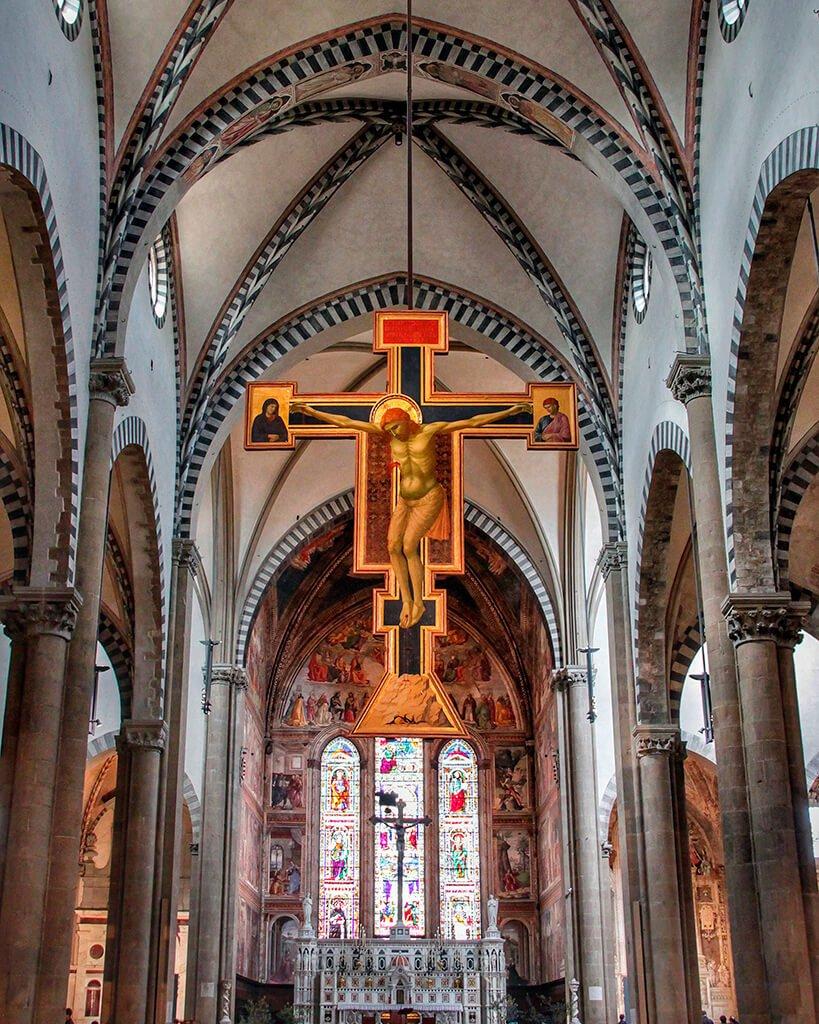 Crucifijo de Giotto de la iglesia de Santa María Novella