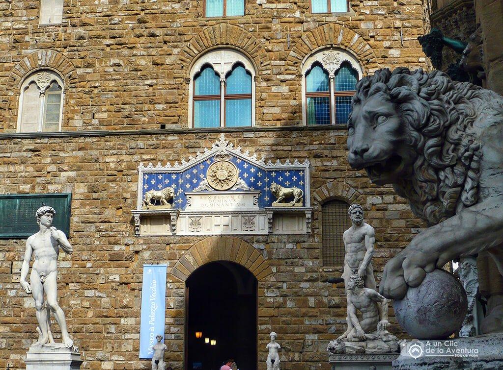 Entrada al Palazzo Vecchio