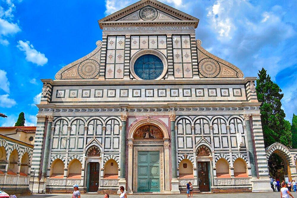 Fachada de la iglesia de Santa María Novella