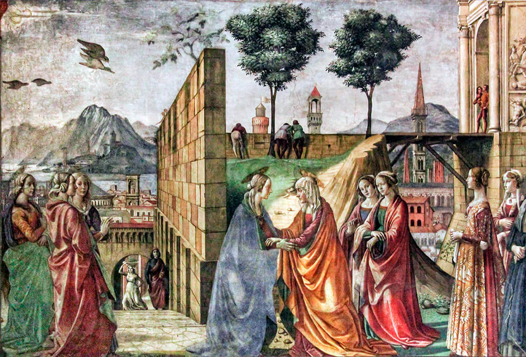 Fresco de Ghirlandaio en la Capilla Mayor de la iglesia de Santa María Novella