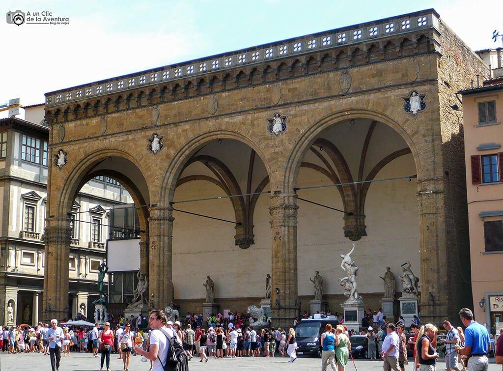 Loggia dei Lanz - visitar Florencia