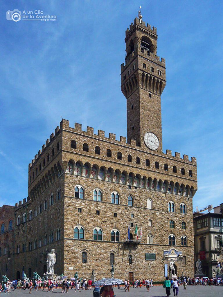 El Palazzo Vecchio en la Plaza de la Signoria - visitar Florencia