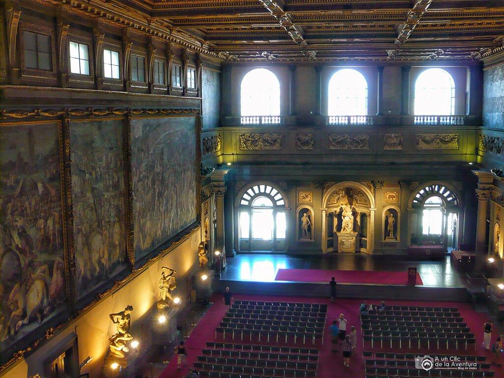 Salón de los Quinientos del Palacio Vecchio - visitar Florencia