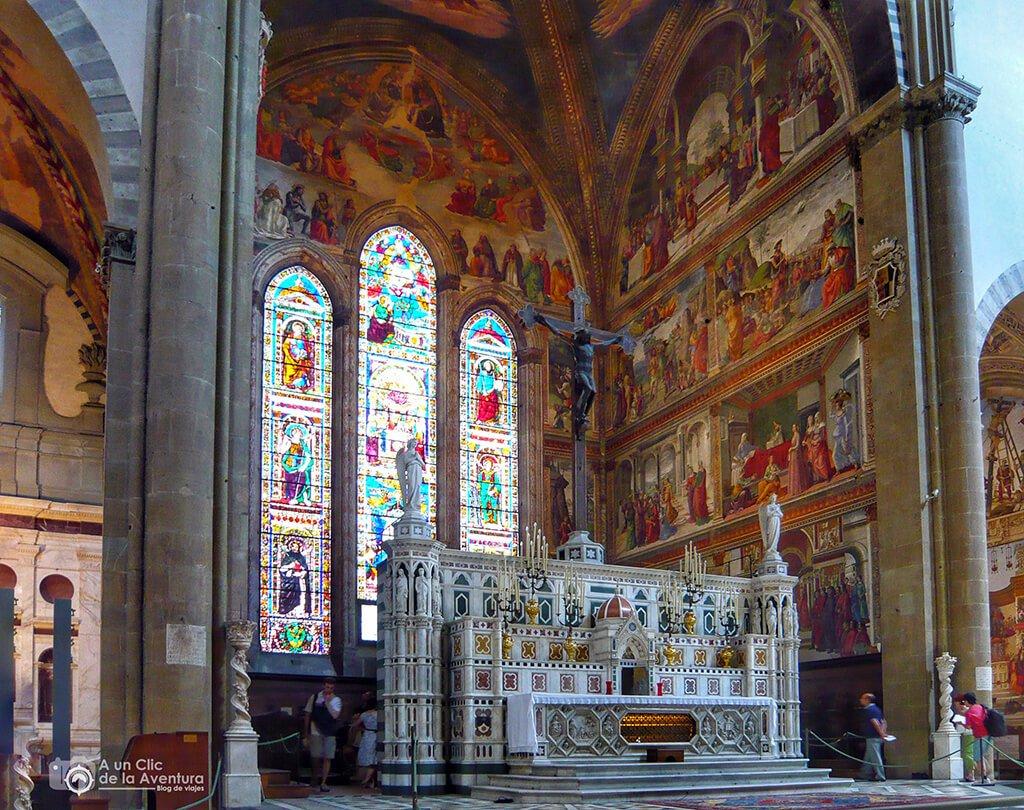 Interior de la iglesia de Santa María Novella - visitar Florencia