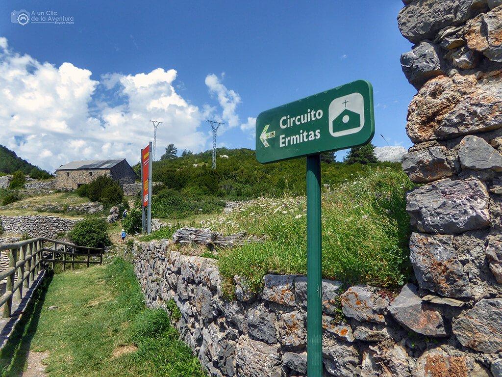 """Comienzo del """"Circuito Ermitas"""" - ruta de las ermitas de Tella"""