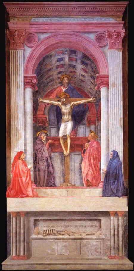 La Trinidad de Masaccio de la iglesia de Santa María Novella