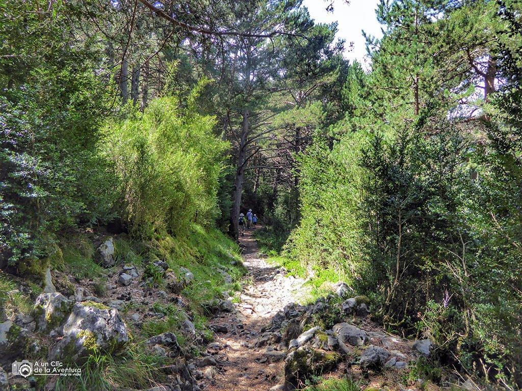 Comienzo de la ruta de las ermitas de Tella