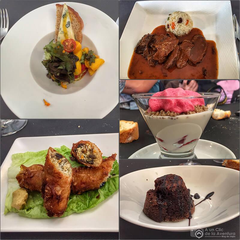 Menú del Restaurante Blanco y Negro