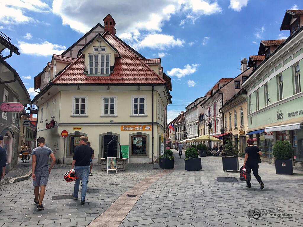 Prešernova ulica en Kranj - viaje en coche a Eslovenia