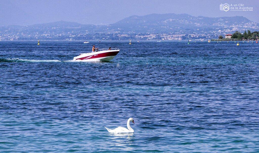 Lago di Garda en Peschiera del Garda - Viaje en coche a Eslovenia