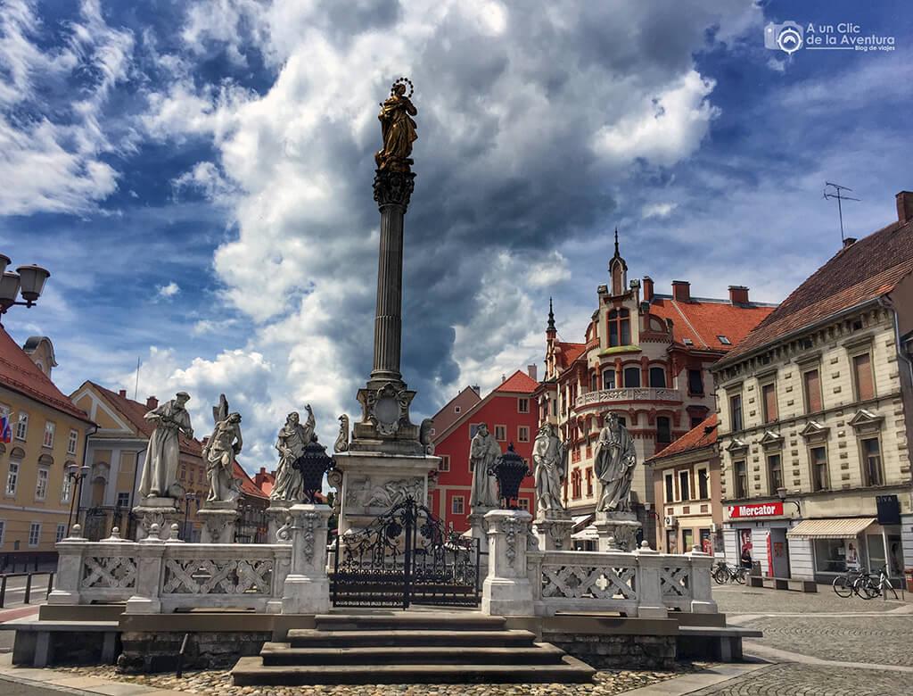 Plaza Glavni de Maribor - viaje en coche a Eslovenia