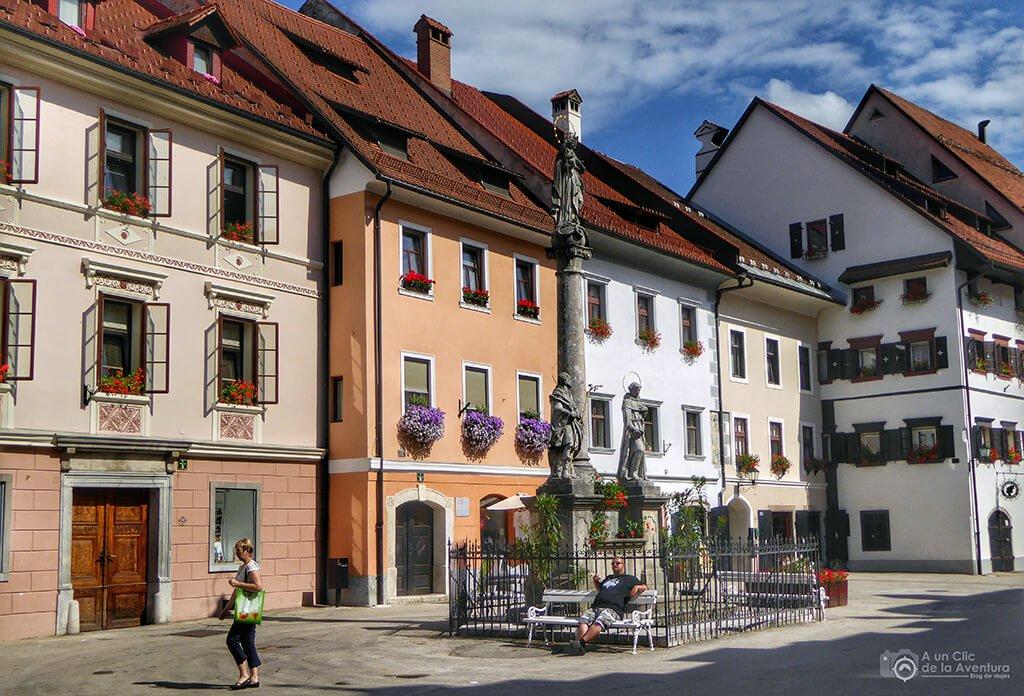 Centro histórico de Škofja Loka - viaje en coche a Eslovenia