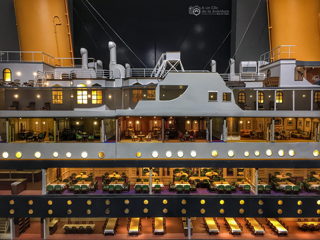 Detalle de la maqueta del Titanic - Exposición Titanic The Reconstruction
