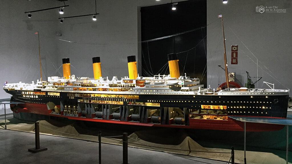 Maqueta del Titanic - Exposición Titanic The Reconstruction