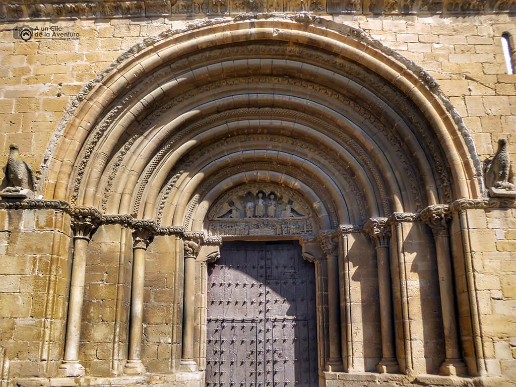 Portada de la Iglesia de San Pedro de Olite