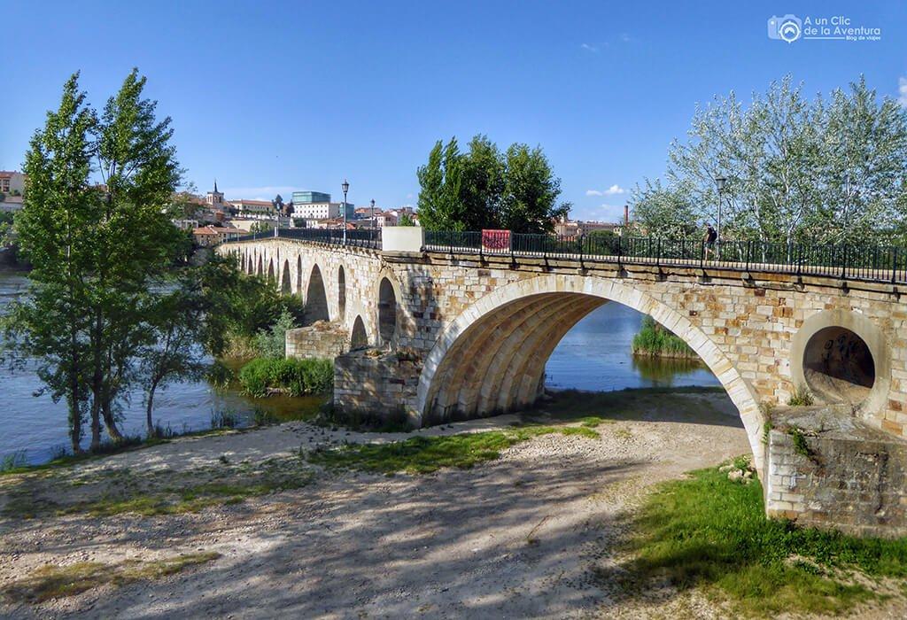 Puente de Piedra sobre el Duero en Zamora - que ver en Zamora