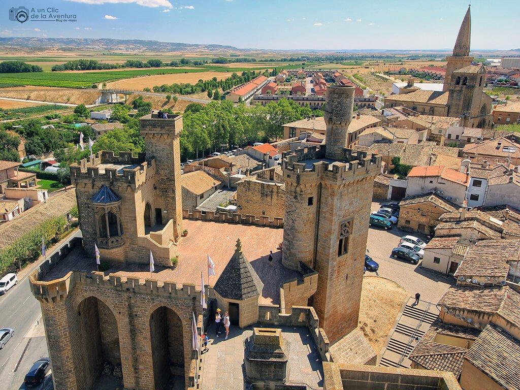 Torres de la Atalaya y los Cuatro Vientos del Castillo de Olite