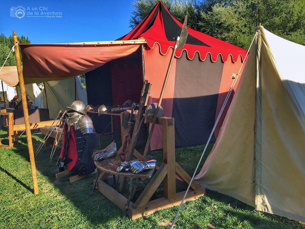 Campamento militar medieval a orillas del río Arlanzón
