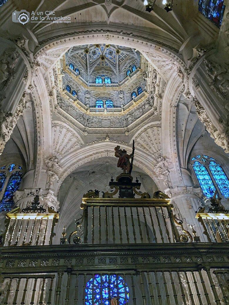 Cimborrio de la Catedral de Burgos bajo el que se encuentra la tumba de Rodrigo Díaz de Vivar y Doña Jimena