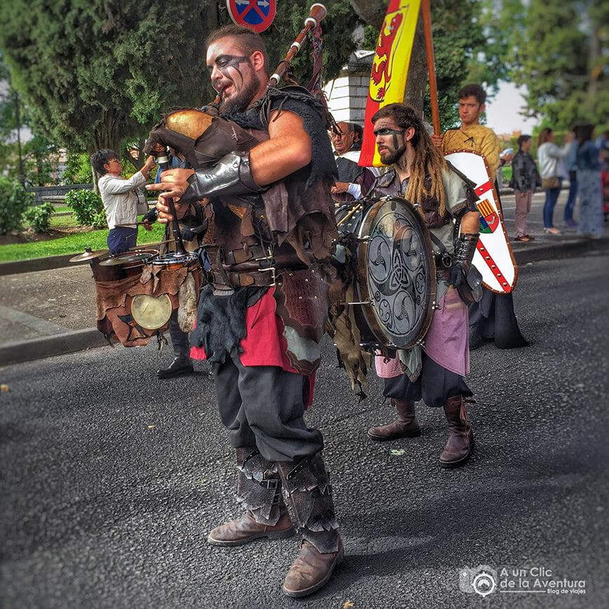 Músicos del grupo Wyrdamur en el Fin de Semana Cidiano
