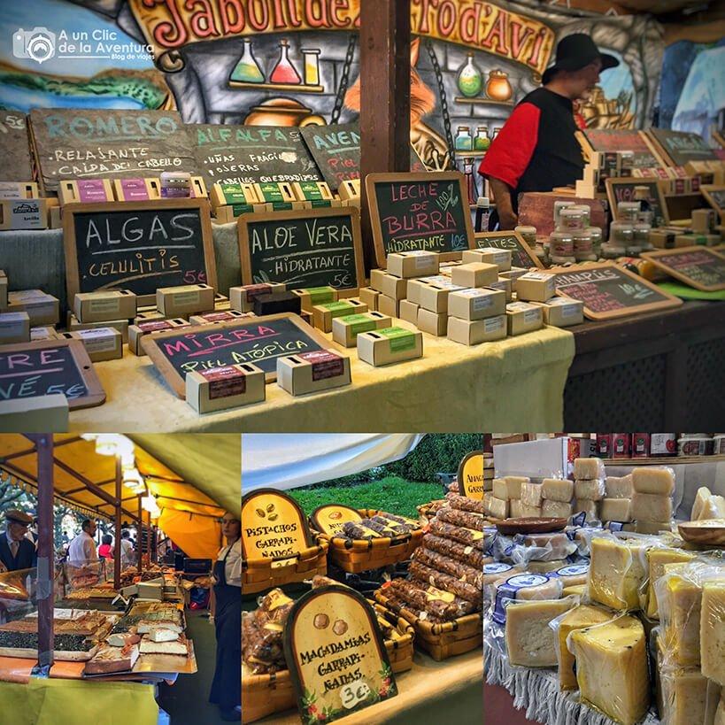 Puestos del mercado medieval del Fin de Semana Cidiano