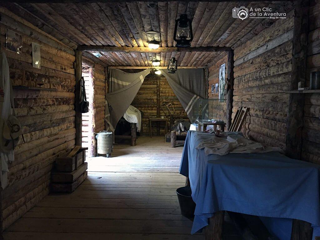 Enfermería de la trinchera de la Primera Guerra Mundial en el Museo de Radiotransmisiones de Belorado - planes en familia para hacer en Burgos