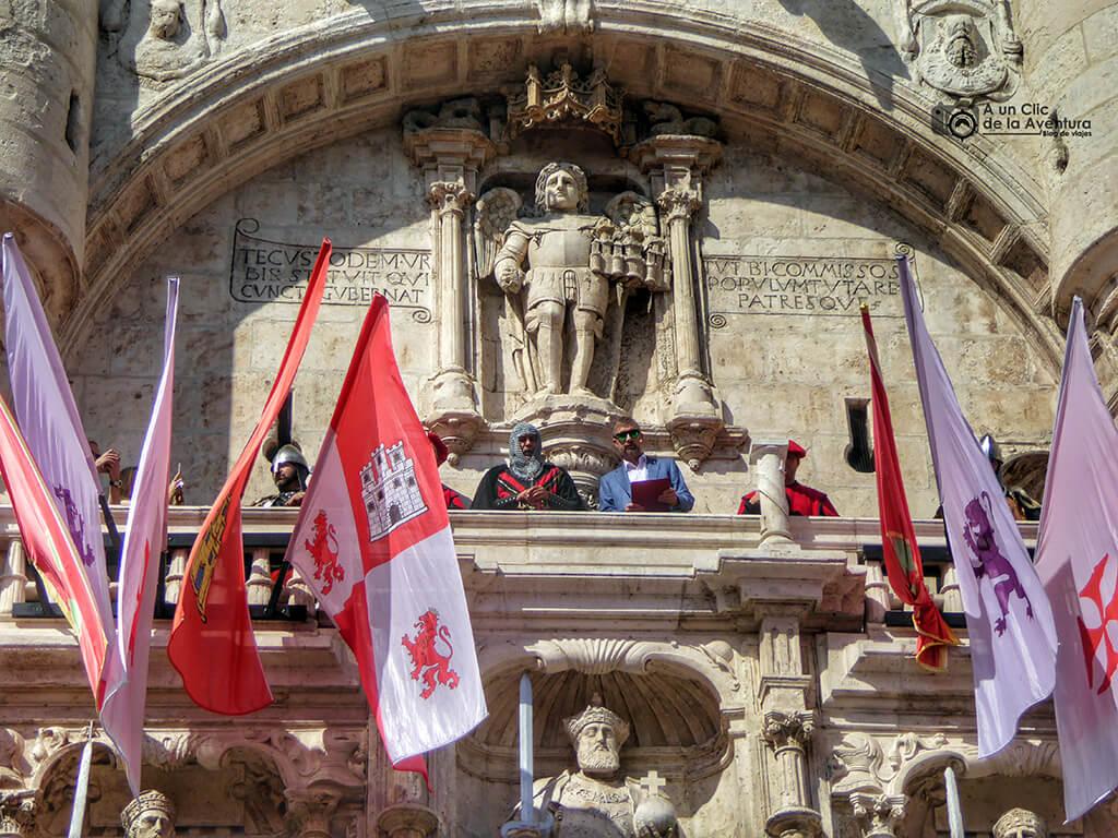 Pregón del Fin de Semana Cidiano en el Arco de Santa María