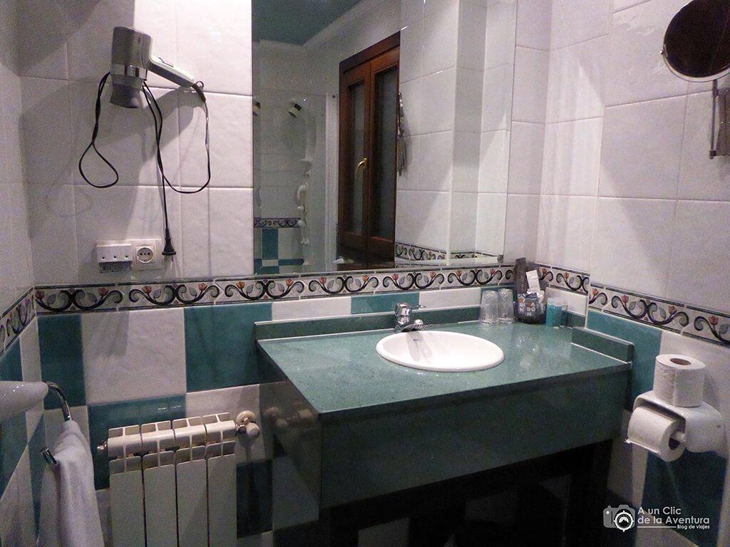 Cuarto de baño del Gran Hotel Rural Cela