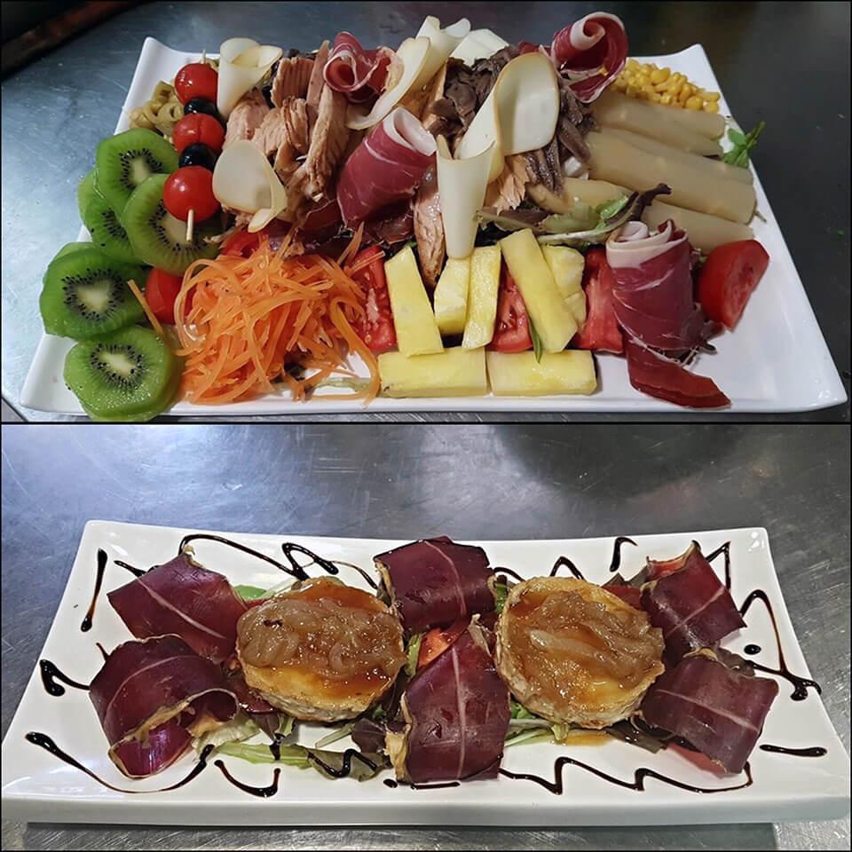 Gastronomía del restaurante del Gran Hotel Rural Cela