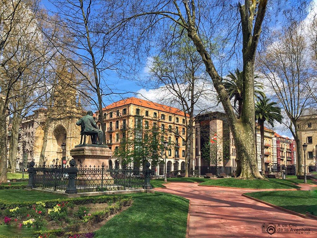 Jardines de Albia de Bilbao - que ver en Bilbao