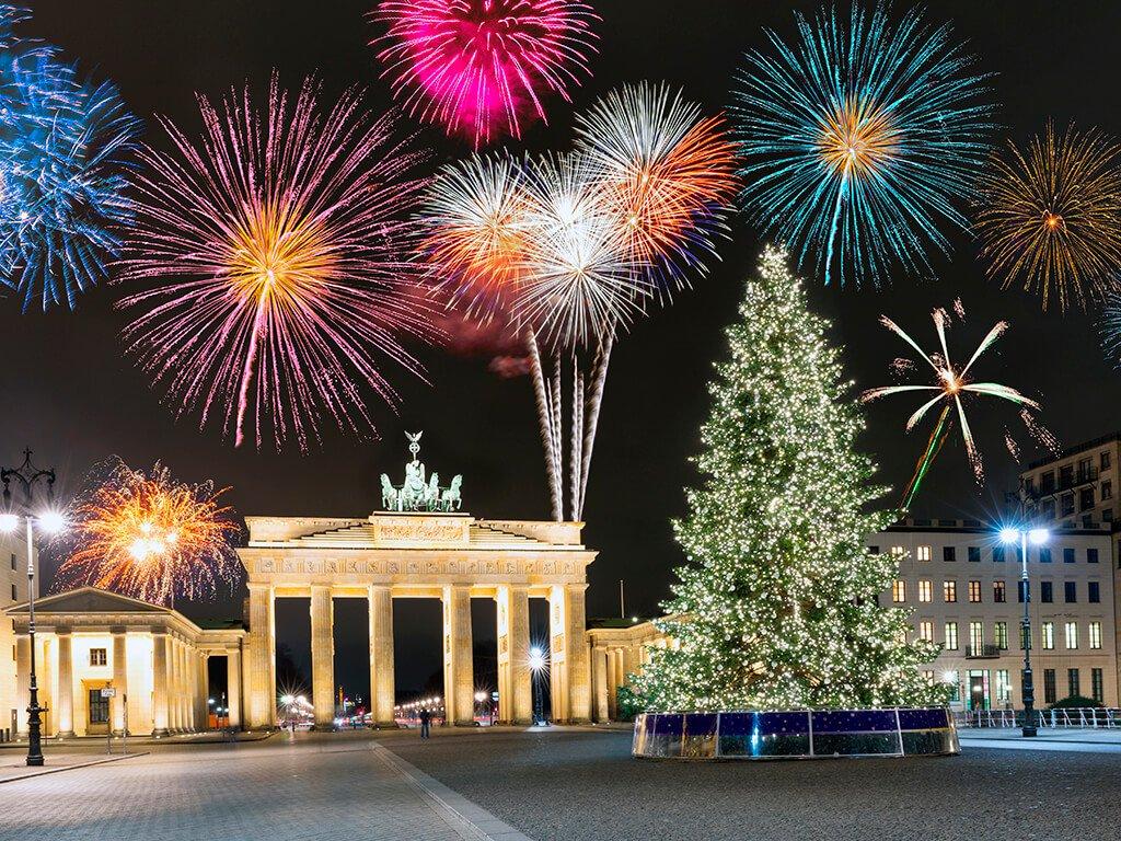 Puerta de Brandenburgo en Berlín - ciudades de Europa para celebrar el Año Nuevo