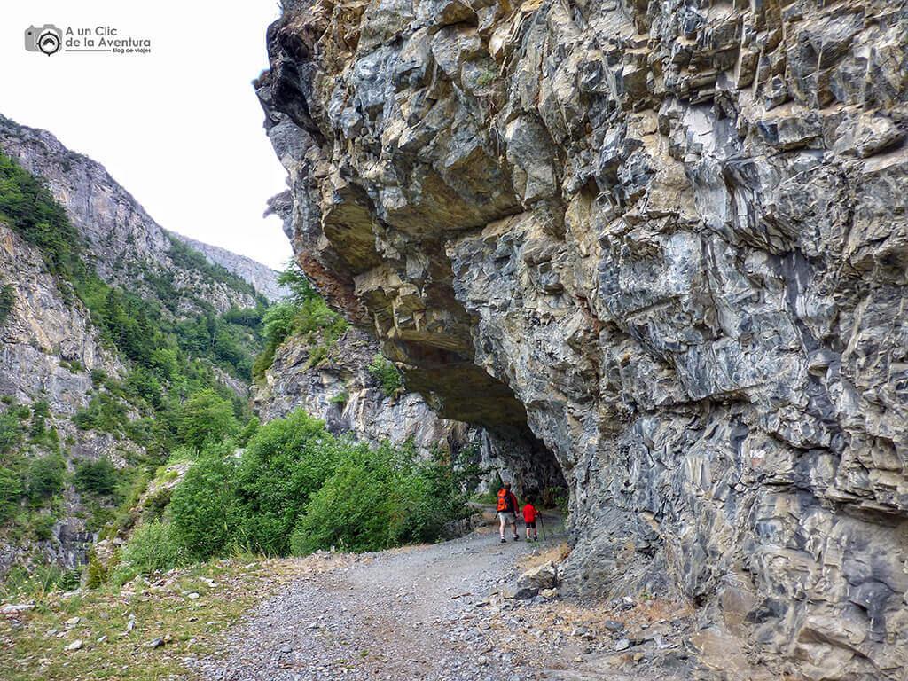 Camino desde el puente de Oncins