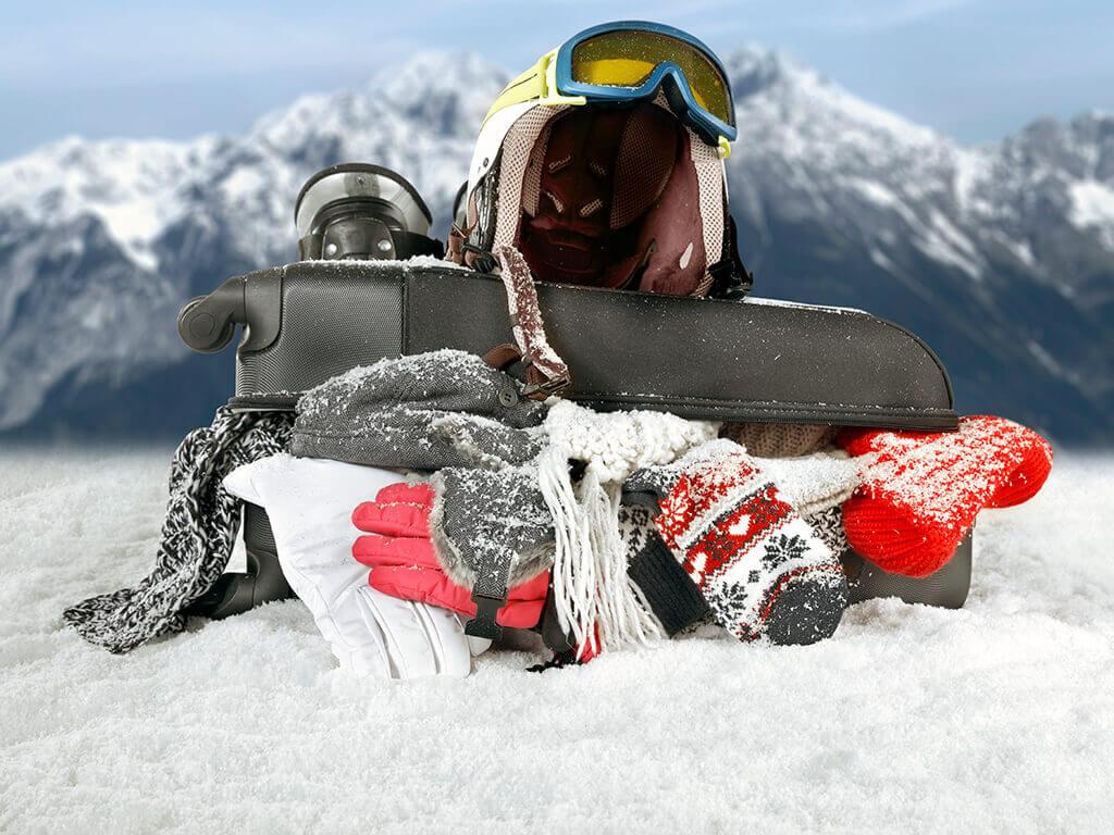 Equipo para esquiar en familia