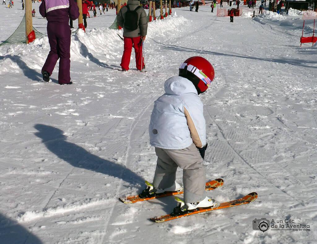 Familiarizándose con los desplazamientos en la nieve