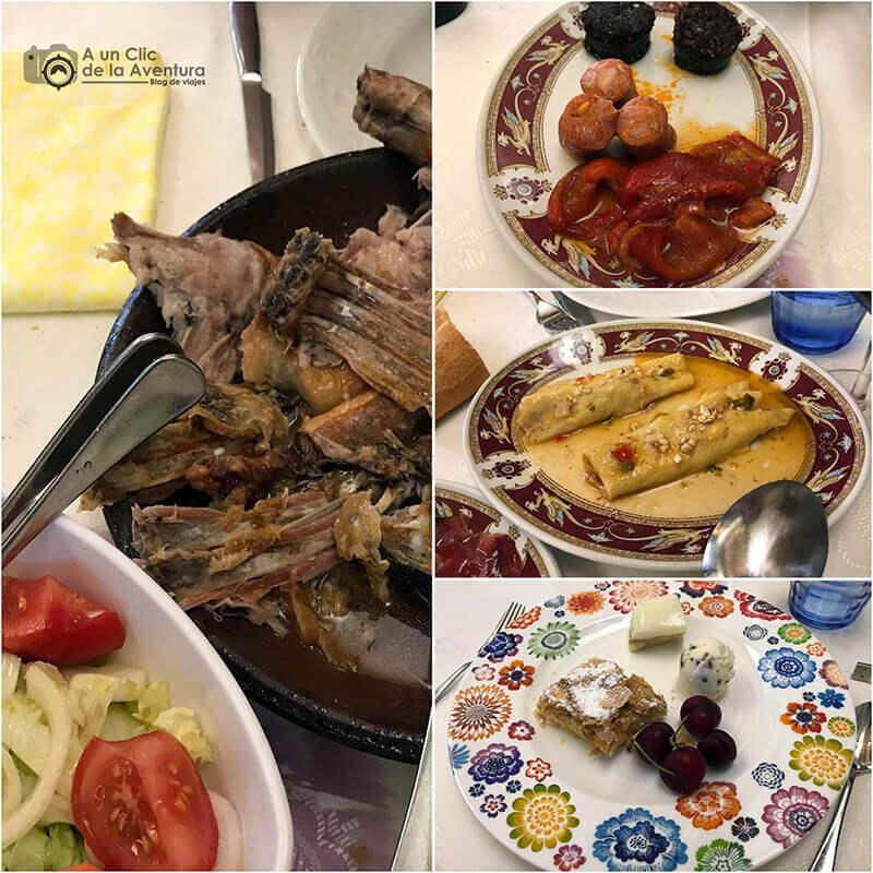 Menú del Asador el Ciprés durante las Jornadas del Lechazo de Aranda de Duero